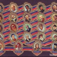 Vitolas de colección: TABACOS CAPOTE, PERSONAJES, SERIE B, 24 VITOLAS, SERIE COMPLETA.. Lote 264064740