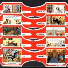 Vitolas de colección: MURILLO, TIN TIN, SERIE F, ROJO/BLANCO, 10 VITOLAS, SERIE COMPLETA.. Lote 267059224