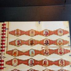 Vitolas de colección: ANTIGUA SERIE COMPLETA DE VITOLAS HABANA KARAKTER SERIE PAPAS, COMPLETA 24 VITOLAS. Lote 267710989