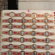 Vitolas de colección: LOTE DE 28 VITOLAS LA FLOR FINA SERIE COMPLETA DE.PRESIDENTES AMERICANOS. Lote 267897474