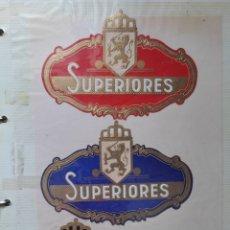 Vitolas de colección: ETIQUETAS LITOGRAFÍAS TABAQUERAS /HABILITACIÓN / VITOLAS. Lote 268044024