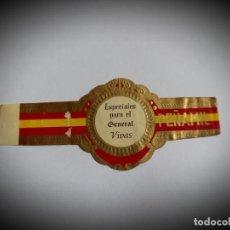 Vitole di collezione: VITOLA PERSONALIZADA PARA EL GENERAL VIVAS -PEÑAMIL. Lote 268982979