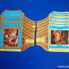 Vitolas de colección: ALVARO, VALDES LEAL, 12 VITOLINAS, SERIE COMPLETA.. Lote 269237688