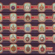 Vitolas de colección: ALTO, RELOJES, F.P. 24 VITOLAS, SERIE COMPLETA.. Lote 269238753