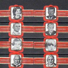 Vitolas de colección: CARAIBE, PERSONALIDADES, F.P. ROJO, 10 VITOLAS, SERIE COMPLETA.. Lote 269239178
