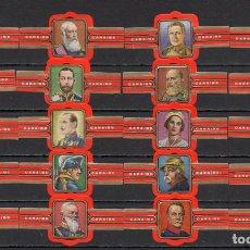 Vitolas de colección: CARAIBE, REYES Y POLITICOS, F.P. ROJO, 20 VITOLAS, SERIE COMPLETA.. Lote 269239263