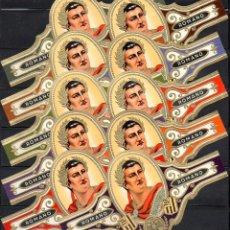 Vitolas de colección: ROMANO, ROMANO, GRAN FORMATO, 10 VITOLINAS, SERIE COMPLETA.. Lote 269239383