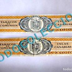 Vitolas de colección: PRECINTO IMPUESTO TABACALERA S. A. - TABACOS EN COMISIÓN ISLAS CANARIAS - (2 UNIDADES). Lote 269274893