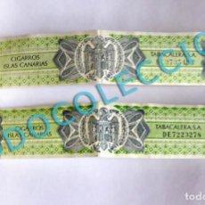 Vitolas de colección: PRECINTO IMPUESTO TABACALERA S. A. - CIGARROS ISLAS CANARIAS, TABACO - (2 UNIDADES). Lote 269277063