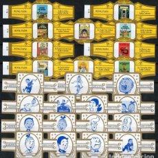 Vitolas de colección: LOTE DOS SERIES DE VITOLAS COMPLETAS. LAS AVENTURAS DE TINTÍN (11-20) - SUSKE Y WISKE (PERSONAJES).. Lote 269384988