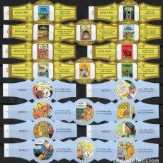 Vitolas de colección: LOTE DOS SERIES DE VITOLAS COMPLETAS. LAS AVENTURAS DE TINTÍN (11-20) - TOM POES.. Lote 269386003