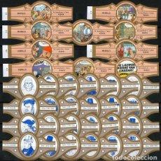 Vitolas de colección: LOTE DOS SERIES DE VITOLAS COMPLETAS. LAS AVENTURAS ASTERIX (V) - HOMBRES Y ÉPOCAS.. Lote 269387423