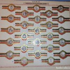Vitolas de colección: 25 VITOLAS HABANOS ECUADOR CONMEMORACION HISPANO FRANCESA DE LOS SITIOS DE ZARAGOZA SERIE COMPLETA. Lote 269442058