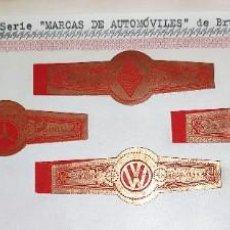 Vitolas de colección: 7 VITOLAS ANTIGUAS SERIE MARCAS DE AUTOMOVILES OPEL MERCEDES VOLKSWAGEN ETC DE BRUSELAS ORIGINALES. Lote 269444573