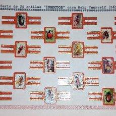 Vitolas de colección: 24 VITOLAS ANTIGUAS SERIE COMPLETA INSECTOS CASA HELP YOURSELF ORIGINALES. Lote 269445873