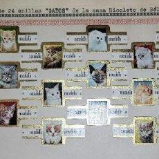 Vitolas de colección: 24 VITOLAS ANTIGUAS SERIE COMPLETA GATOS CASA NICOLETO DE BELGICA ORIGINALES. Lote 269447073