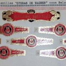 Vitolas de colección: 11 VITOLAS ANTIGUAS SERIE COMPLETA OPERAS DE WAGNER CASA SELS DE BELGICA ORIGINALES. Lote 269447603