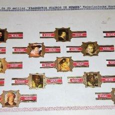 Vitolas de colección: 20 VITOLAS ANTIGUAS SERIE FRAGMENTOS CUADROS DE RUBENS NEDERLANDSCHE MUNT ORIGINALES. Lote 269449803