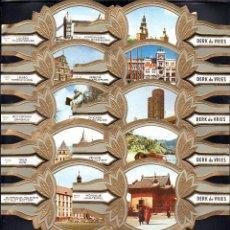 Vitolas de colección: DERK DE VRIES, TURISMO, SERIE 192, GRAN FORMATO, 10 VITOLINAS, SERIE COMPLETA.. Lote 270242443