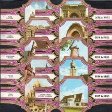 Vitolas de colección: DERK DE VRIES, TURISMO, SERIE 209, GRAN FORMATO, 10 VITOLINAS, SERIE COMPLETA.. Lote 270242553