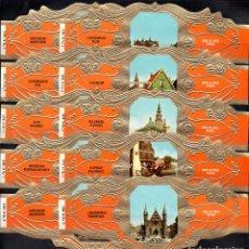 Anéis de charuto de coleção: DERK DE VRIES, VISTAS DE HOLANDA, SERIE 24, GRAN FORMATO, 10 VITOLINAS, SERIE COMPLETA.. Lote 272740653