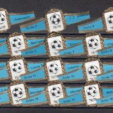 Anéis de charuto de coleção: DRIDO, FUTBOL BELGICA, CAMPEONATO 1978-79, 18 VITOLAS, SERIE COMPLETA.. Lote 272961523