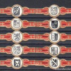 Anéis de charuto de coleção: JANSSENS BONTE, ESCUDOS, 10 VITOLAS, SERIE COMPLETA.. Lote 275077258