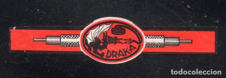 VITOLA CLASICA: 235077, TEMA MITOLOGIA, DRAGON, DRAKA (Coleccionismo - Objetos para Fumar - Vitolas)