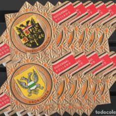 Vitolas de colección: HUDSON. SERIE DE VITOLAS COMPLETA EN GRAN FORMATO. TEMÁTICA: ESCUDOS DE ARMAS (SERIE 2). Lote 277703013