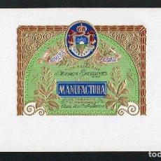 Vitolas de colección: VITOLA, ORIGINAL LITOGRAFÍA. LA HAVANAISE (UNTITLED). TEMÁTICA: ESCUDOS.. Lote 277706698