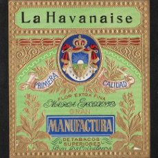 Vitolas de colección: VITOLA, ORIGINAL LITOGRAFÍA. LA HAVANAISE. TEMÁTICA: ESCUDOS.. Lote 277707128