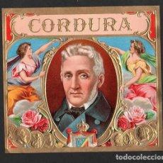 Vitolas de colección: VITOLA, ORIGINAL LITOGRAFÍA. CORDURA. TEMÁTICA: HOMBRES.. Lote 277712628