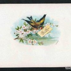 Vitolas de colección: VITOLA, ORIGINAL LITOGRAFÍA. FLOR FINA. TEMÁTICA: AVES.. Lote 278163938