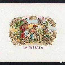 Vitolas de colección: VITOLA, ORIGINAL LITOGRAFÍA. LA TRESALA. TEMÁTICA: INDIOS.. Lote 278164963