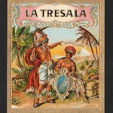 Vitolas de colección: VITOLA, ORIGINAL LITOGRAFÍA. LA TRESALA. TEMÁTICA: INDIOS.. Lote 278165188