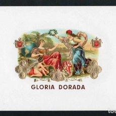 Vitolas de colección: VITOLA, ORIGINAL LITOGRAFÍA. GLORIA DORADA. TEMÁTICA: MUJERES.. Lote 278169583