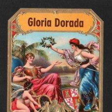 Vitolas de colección: VITOLA, ORIGINAL LITOGRAFÍA. GLORIA DORADA. TEMÁTICA: MUJERES.. Lote 278169958