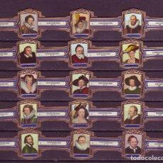 Vitolas de colección: ELISABETH BAS, RUBENS, FRAGMENTOS, SERIE 1ª, AZUL, 15 VITOLAS, SERIE COMPLETA.. Lote 278200318