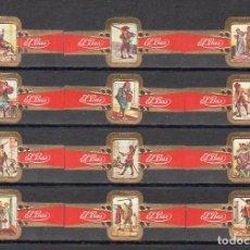 Vitolas de colección: ELISABETH BAS, LOS TRES MOSQUETEROS, SERIE 1ª, 12 VITOLAS, SERIE COMPLETA.. Lote 278200433