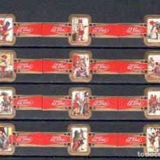 Vitolas de colección: ELISABETH BAS, LOS TRES MOSQUETEROS, SERIE 2ª, 12 VITOLAS, SERIE COMPLETA.. Lote 278200493