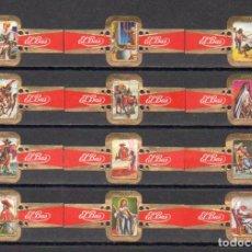 Vitolas de colección: ELISABETH BAS, LOS TRES MOSQUETEROS, SERIE 3ª, 12 VITOLAS, SERIE COMPLETA.. Lote 278200563