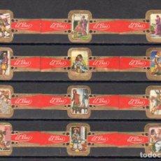 Vitolas de colección: ELISABETH BAS, LOS TRES MOSQUETEROS, SERIE 4ª, 12 VITOLAS, SERIE COMPLETA.. Lote 278200683