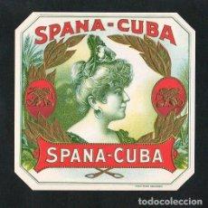 Vitolas de colección: VITOLA, ORIGINAL LITOGRAFÍA. SPANA-CUBA. TEMÁTICA: MUJERES.. Lote 278886073
