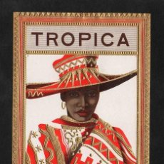 Vitolas de colección: VITOLA, ORIGINAL LITOGRAFÍA. TROPICA. TEMÁTICA: MUJERES.. Lote 278886863