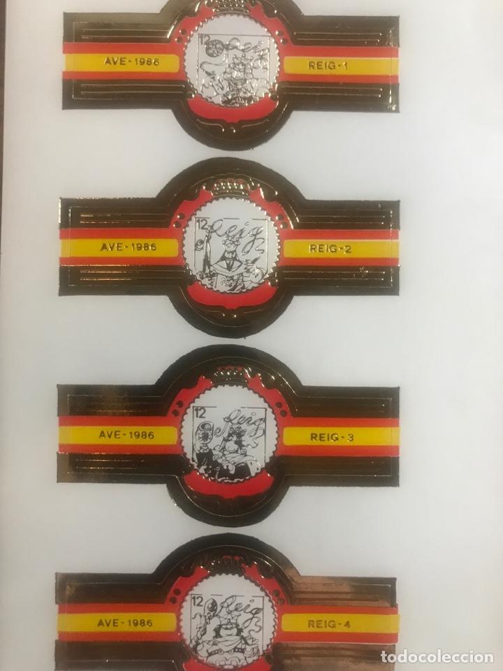 LOTE DE 4 VITOLAS AHDESIVAS PUROS REIG AVE 1986 DE COLECCION REYES DE LA BARAJA (Coleccionismo - Objetos para Fumar - Vitolas)