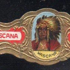 Vitolas de colección: VITOLA CLASICA: 115030, TEMA INDIOS, WASCANA, TALON P.B.12527. Lote 288324403