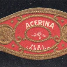 Vitolas de colección: VITOLA CLASICA: 121029, TEMA FLORES, ACERINA, M.S.L. LA PALMA, ISLAS CANARIAS.. Lote 288324528