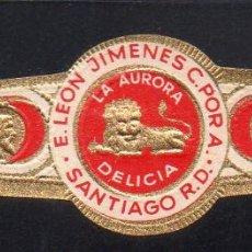 Vitolas de colección: VITOLA CLASICA: 121037, TEMA FAUNA, FELIDOS, DELICIA, LA AURORA.. Lote 288324648