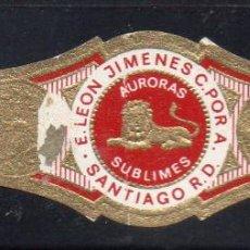 Vitolas de colección: VITOLA CLASICA: 121038, TEMA FAUNA, FELIDOS, AURORAS SUBLIMES, LA AURORA.. Lote 288324713