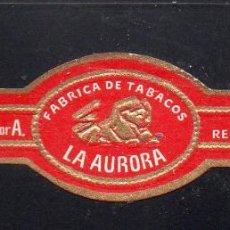 Vitolas de colección: VITOLA CLASICA: 121040, TEMA FAUNA, FELIDOS, LA AURORA.. Lote 288324763